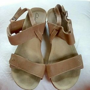 Women's Leather wedges by Clarks